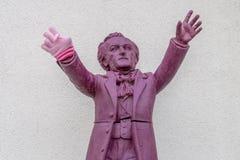 Richard Wagner conduce Bayreuth con el guante del invierno Imagenes de archivo