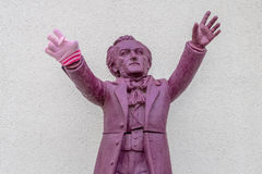 Richard Wagner leitet Bayreuth mit Winterhandschuh Stockbilder