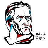 Richard Wagner Portrait ilustración del vector