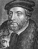Richard Whittington. (1354-1423) on engraving from 1784. Medieval merchant and politician.  Engraved by Benoist Royalty Free Stock Photography