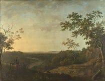 Richard Wilson - das Tal des Dee, mit Chester im Abstand stockbilder
