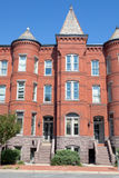 Richardsonian Romanesque Brick Row Home Washington Royalty Free Stock Images