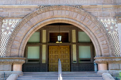 Richardsonian Romanesque Revival Architecture in Heritage Building in Toronto Stock Images