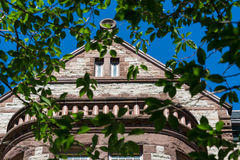 Richardsonian Romanesque Revival Architecture in Heritage Building in Toronto Stock Photos