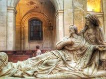 Richelieu dans chapelle de la Sornbonne, France. Richelieu sculpture in chapelle de la Sorbonne, Paris, France stock photo