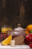 Riches de nourriture et de boissons de vitamine C naturelle Images libres de droits