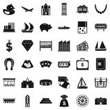 Riches icons set, simple style Stock Photography