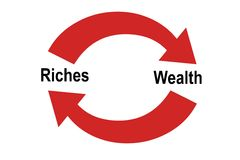 Riches Vs. Wealth stock illustration