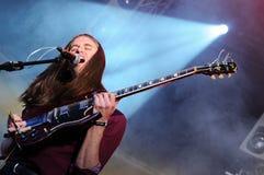 Richie James Follin vokalist och gitarrist av vaktmusikbandet royaltyfri fotografi