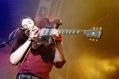 Richie James Follin vokalist och gitarrist av vaktmusikbandet arkivbilder