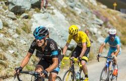 Richie Porte на дорогах гор - Тур-де-Франс 2015 Стоковая Фотография