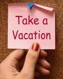 Richieda tempo di mezzi della nota di vacanza per la festa illustrazione di stock