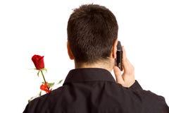 Richiedendo una data fotografia stock