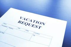 Richiesta di vacanza immagini stock