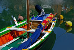 Richly colored boat Stock Photos