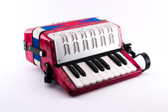 Richly colored small accordion toy Stock Photo
