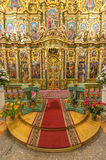 Richly decorated altar Stock Photo