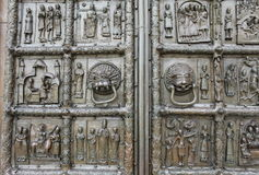 Richly decorated ancient gates Stock Photography