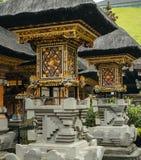 Richly decorated balinese shrines. Royalty Free Stock Image