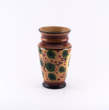 Richly decorated brown - green vase Stock Photo