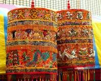 Richly Decorated Buddhist Prayer Wheels Royalty Free Stock Image