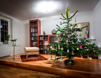 Richly decorated Christmas tree Royalty Free Stock Photos
