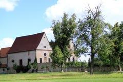 Richly decorated church sv. Tří králů a Kaple sv. Anny in Czech Republic Royalty Free Stock Photos