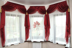 Richly decorated curtain Royalty Free Stock Photography