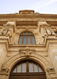 Richly decorated facade of Bucharest Court of Appeal, Romania. BUCHAREST, ROMANIA - 7 FEBRUARY 2016: The Bucharest Court of Appeal ihears appeals in cases first Royalty Free Stock Image