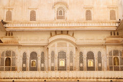 Richly decorated facade of a building in India Royalty Free Stock Photos