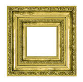 Richly decorated golden square frame Royalty Free Stock Images