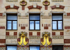 Richly decorated house detail Royalty Free Stock Photos