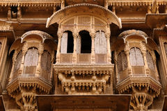 Richly decorated houses in India Stock Photo