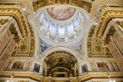 Ceiling Isaac Cathedral, St. Petersburg Royalty Free Stock Photos