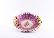 Richly decorated pink - white bowl Royalty Free Stock Photography