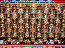 Richly Decorated Temple Ceiling Stock Photos