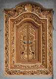 Decorated vintage wooden window. Indonesia. Royalty Free Stock Photo