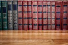 Richly decorated volumes of books Stock Images