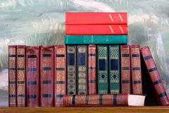 Richly decorated volumes of books Royalty Free Stock Photo