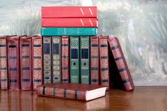 Richly decorated volumes of books Royalty Free Stock Photos