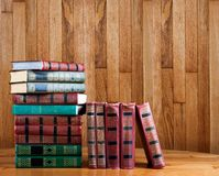 Richly decorated volumes of books Stock Image