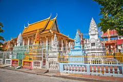 Richly ornamented Buddhist temple, Phnom Penh, Cambodia Stock Image