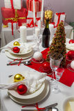 Richly set the Christmas table Stock Images
