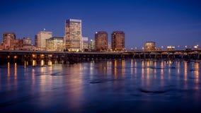 Richmond alla notte immagine stock