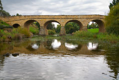 Richmond Bridge. Historic Richmond Bridge, built by convicts in the 1800's, Tasmania Royalty Free Stock Photo