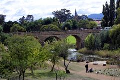Richmond Bridge i Richmond Tasmania Australia royaltyfri fotografi