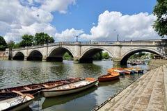 Richmond Bridge, Londra fotografie stock