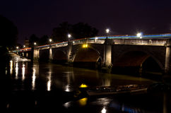 Richmond Bridge at night... Royalty Free Stock Photos