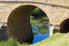 Richmond Bridge, Tasmania. Convict built bridge in Tasmania, the oldest in Australia stock photo