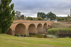 Richmond Bridge in Tasmania. Old convict-built Richmond Bridge in Tasmania Stock Photos